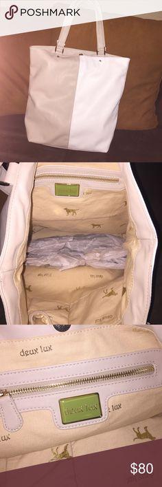 "Deux Lux bag nwot Soft white & light beige block shoulder bag. Nwot  12.5"" x 5"" x 15"". Deux Lux Bags Shoulder Bags"