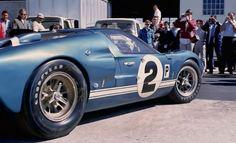 Sebring 1966 winner . Dan Gurney / Jerry Grant Shelby Ford GT40 Mk. II in the paddock.