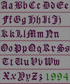 Darling Make Alphabet Friendship Bracelets Ideas. Wonderful Make Alphabet Friendship Bracelets Ideas. Crochet Alphabet, Cross Stitch Alphabet Patterns, Alphabet Charts, Embroidery Alphabet, Cross Stitch Letters, Letter Patterns, Cross Stitch Designs, Embroidery Patterns, Stitch Patterns