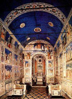 Giotto - Cappella degli Scrovegni  İtalya'da bulunan kilisenin duvarında Giotto' nun sayısız freskosu bulunmaktadır. Padova'da sergilenmektedir.
