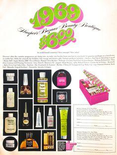 Harpers Bazaar 'Beauty Boutique' Ad, 1969