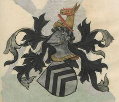Armorial de la Table ronde.  Date d'édition :  1490-1500  Ms-4976  Folio 104r