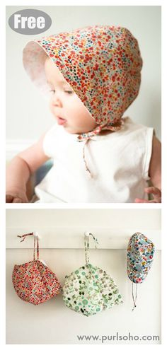 Baby Sun Bonnet Free Sewing Pattern Baby Sun Bonnet kostenlose Schnittmuster This. Sewing Patterns Girls, Hat Patterns To Sew, Hat Pattern Sewing, Pattern Shorts, Crochet Patterns, Sewing Baby Clothes, Baby Clothes Patterns, Baby Girl Patterns, Babies Clothes