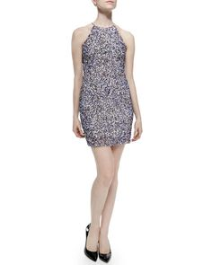 T99NN Parker Jaden Sequined Sleeveless Dress