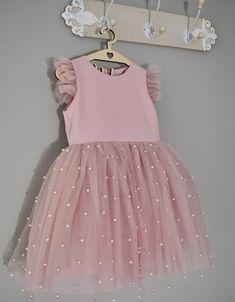 Sukienka na wesele Sukienka do chrztu Girls Dresses, Flower Girl Dresses, Tulle, Wattpad, Wedding Dresses, Skirts, Fashion, Dresses Of Girls, Bride Dresses