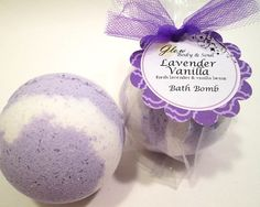 Lavender Vanilla Bath Bomb Fizzy by GlowBodyandSoul on Etsy