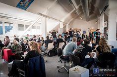 """DAm dritten und letzten Tag des BarCamp Graz 2015 in der FH Joanneum waren höchstens die vierbeinigen Begleiter der Veranstaltung hundemüde. Dafür versprach das Programm des Tages wieder viel zu spannende Themen. """"Lass dich von der Muse küssen: kreativ Schreiben"""" aus dem Wissenscamp, """"Wann ist ein Mann ein Mann?"""" im Startcamp, oder """"Lobbying: How to, Best practices -> Austausch"""" aus dem Politcamp.  """"#BarCamp #Graz #2015"""" """"#FH #Joanneum"""" #Veranstaltung """"#spannende #Themen"""" """"#kreativ…"""