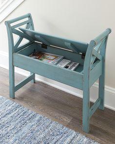 Heron Ridge Accent Bench by Ashley HomeStore, Blue Refurbished Furniture, Repurposed Furniture, Painted Furniture, Repurposed Wood, Diy Furniture Projects, Furniture Makeover, Home Furniture, Furniture Removal, Luxury Furniture