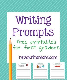 First grade writing prompts - 8 pages of free writing prompts thatare great for practicing handwriting and thinking skills.