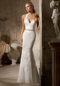 Mori Lee Wedding Dress 2712 Ivory Size 14 on Sale