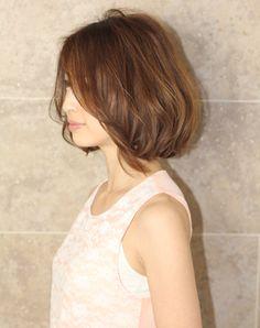 大人キレイなボブ(HA-68) ヘアカタログ AFLOAT アフロート Asian Bangs, Bob Styles, Natural Curls, Perm, Hair Designs, Hair Makeup, Hair Beauty, Flower Girl Dresses, Make Up