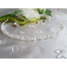 2 reihiger Kopfschmuck mit vielen Perlen. Modell Liliane.Filigran gearbeitetLänge ca. 30 cmBreite ca. 6 mm