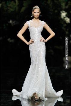 Pronovias Beaded Wedding Gown | CHECK OUT MORE IDEAS AT WEDDINGPINS.NET | #weddingfashion