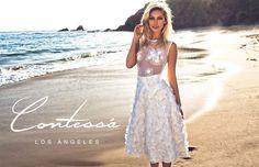 Magnolia Dress available at contessaLA.com, #3Dlace, #weddingdress, #beach, #bohochic