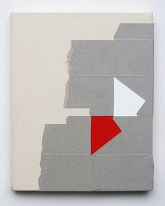 Justyn Hegreberg, Untitled, 2014 10 by 8in (25 by 20cm) acrylic, flashe and cardboard on canvas