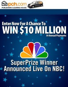 PCH Sweepstakes | enter to win the $10,000,000.00 Publishers Clearing House sweepstakes ...