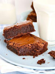 Food and Cook by trotamundos Bean Brownies, Chocolate Brownies, Boxed Brownies, Caramel Brownies, Cheese Brownies, Blondie Brownies, Healthy Brownies, Homemade Brownies, Cheesecake Brownies