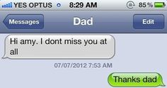 24 Texts You Don't Want To Get From YourParents...Yeah, I shouldn't have read this while at work, I was laughing uncontrollably. Funny Texts, Dads, Funny Textposts, Fathers, Funny Text Messages, Hilarious Texts, Funny Texts Jokes, Funny Sms