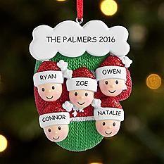 Knit Mitten Family Ornament