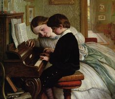 Charles West Cope(1811-1890) — The Music Lesson,1869 (888×768)