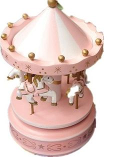 Carrossel Frete grátis Music Box Madeira / Merry- go-round / Música / caixa de presente de Natal Hot Sale E077