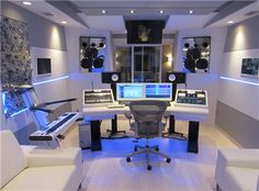 Custom White Finish Mastering Desk100 Enterprises www.100ENT.net 404-480-2404 info@100ENT.net event planner in Atlanta, Recording Studio in Atlanta