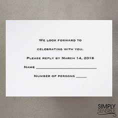 Classic - Respond Card and Envelope weddingneeds.carlsoncraft.com
