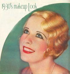 1930s womens makeup how to | 1930s makeup look