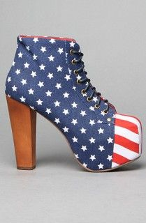 Jeffrey Campbell Lita Fab in Stars and Stripes