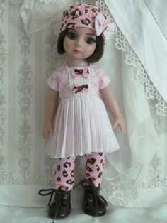 "Patsy Anne Estelle Tonner 10"" OOAK Pink Munchkin dress set handmade  by JEC"