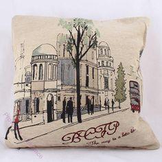 Povlak na polštář ve stylu provence ,, ulice ,, Provence, Stylus, Goblin, Ulice, Throw Pillows, Cushions, Decorative Pillows, Decor Pillows, Pillows