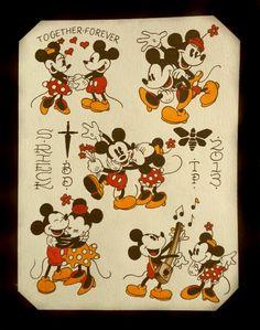 Mickey Mouse Tattoo Flash by Steve Rieck Las Vegas