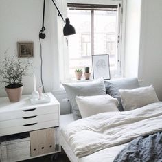 tumblr white bedroom with plants - Google Search