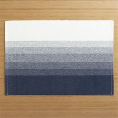 Tye Stripe Placemat in Placemats | Crate and Barrel