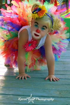 Clown Costume  SEWN  petti tutu set  tutu  by trendylittlecreation, $50.00