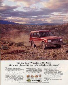 1995 Land Rover Discovery ad (via http://www.productioncars.com/)