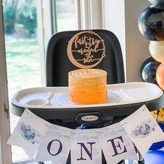 1st Birthday Cake Topper, Baby Boy 1st Birthday, Boy Birthday Parties, Birthday Ideas, Wooden Cake Toppers, Custom Cake Toppers, Rocket Ship Party, Sun Cake, First Birthdays