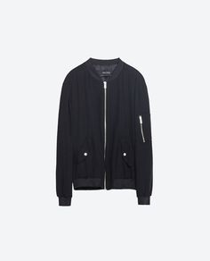 Image 8 of FLOWING ZIPPED BOMBER JACKET from Zara