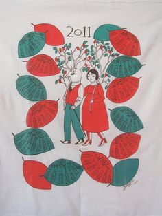 Tea Towel Calendar  for 2011 $30