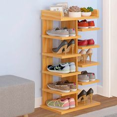 Schuhaufbewahrung Entryway shoe storage hacks that really work shoes shoes Garage Shoe Storage, Shoe Storage Hacks, Entryway Shoe Storage, Bench With Shoe Storage, Storage Ideas, Shoe Shelves, Wood Shoe Rack, Diy Shoe Rack, Shoe Racks