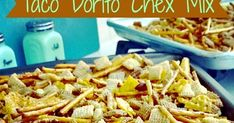 A slightly spicy version of Chex snack mix using taco Doritos.Great football game day snack.