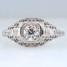 Charming Old European Cut Engagement Ring 14k by YourJewelryFinder, $1575.00