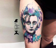 Edward Scissorhands tattoo by Momori Tattoo
