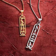Personalized Egyptian Silver Cartouche Pendant   National Geographic Store