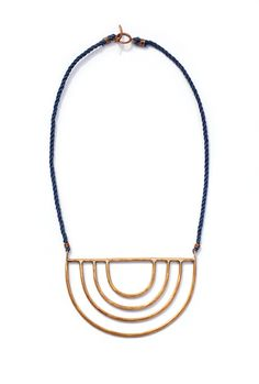 PORTA NECKLACE  $205.00  Bronze pendant on hand turned irish linen rope.  Closes with a toggle clasp.  Pendant measures 2 by 4 inches on 16 inches of cord.