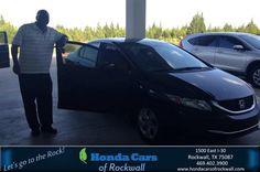 https://flic.kr/p/J3ybej | Happy Anniversary to George on your #Honda #Civic Sedan from Teal McDonald at Honda Cars of Rockwall! | deliverymaxx.com/DealerReviews.aspx?DealerCode=VSDF