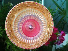 Glass Plate Flowers For Your Spring Garden Decor by pollysyardart,