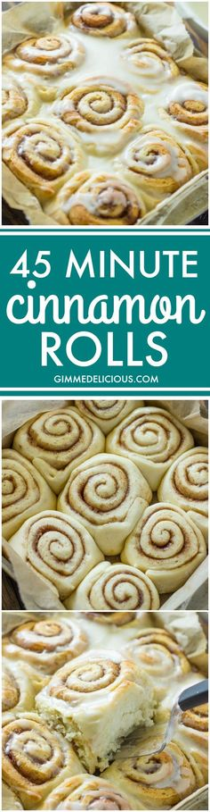 Quick 45 Minute Cinnamon Rolls (nice for when you don't have time to make properly)