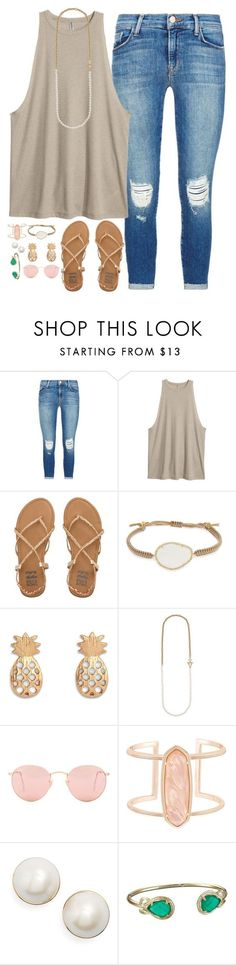 """""""just got home"""" by conleighh ❤ liked on Polyvore featuring J Brand, Billabong, Tai, Kate Spade, Ray-Ban and Kendra Scott"""