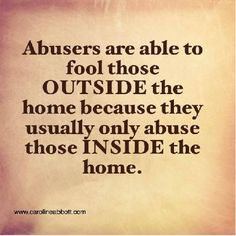 Exactly, the outside world thinks they're just great people, but their family all know the real person. It's purposeful so others won't believe you when you finally all break and tell the truth about the abuse. Narcissistic Mother, Narcissistic Behavior, Narcissistic Sociopath, Survivor Quotes, Abuse Survivor, Trauma, Narcissistic Personality Disorder, Toxic Relationships, Relationship Tips